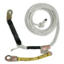Guardian Vertical Lifeline Assembly with 3 Strand Polydac Rope