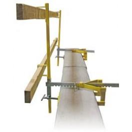 Parapet Clamp Guardrail System - Temporary Construction Site Guardrail