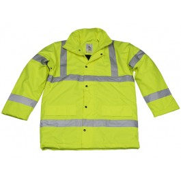 High Visibility Highway Coat, Class 3, 300D - Personal Protection Equipment - PPE