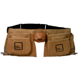 Kee Safety® Double Sided Leather Tool Belt, 12 Pocket