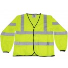 High Visibility Long Sleeved Waistcoat, Class 3 - Personal Protection Equipment - PPE