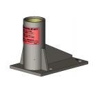 Stainless Steel Floor Mounted Permanent Davit Mount Sleeve
