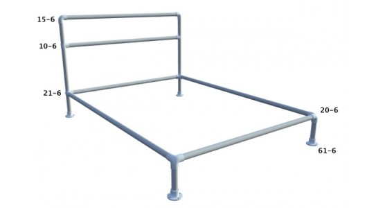 Structural Framing Fittings : Pipe bed frame fittings bundle aluminum simplified