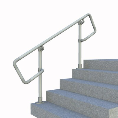 Surface Mount Stair Railing - D-Return