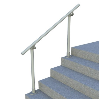 Surface Mount Stair Railing - Open End