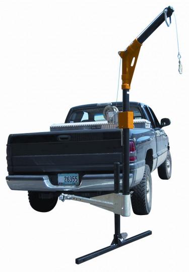 Vehicle Hitch Mount Davit Retreival System