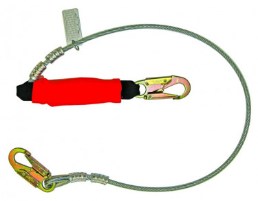 Coated Cable Lanyard w/ Removable Flame Retardant Cover