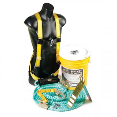 Bucket of Safe-Tie: Bucket, Anchors, Rope Lifeline, & Harness