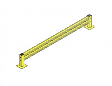 Single Rail Impact Barrier – Straight - 10 ft.