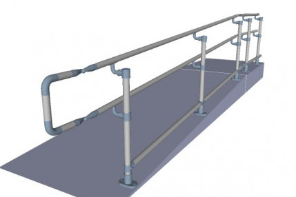 Interactive 3D Rendering of our ADA Handrail Solution