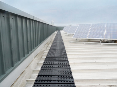 Roof Walkway for Safe Access to Rooftop Solar Installations