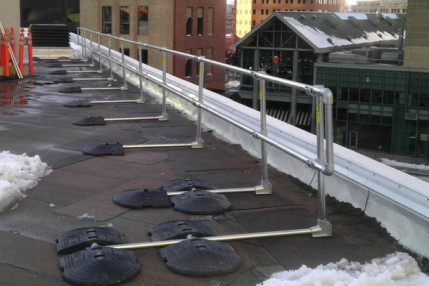 Railing Needed for Rooftop OSHA Violation [Before & After]