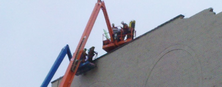 Wear your Safety Harness!  You'll be glad you did!