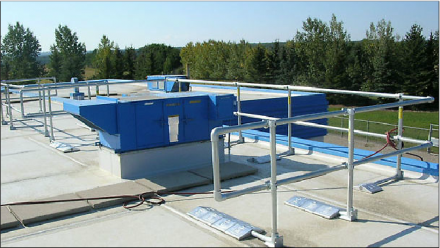 Rooftop Railing Installation - KeeGuard Example
