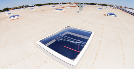 skylights on a flat roof