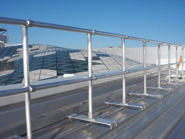 Metal Rooftop Railings And Guardrails Fall Protection Blog