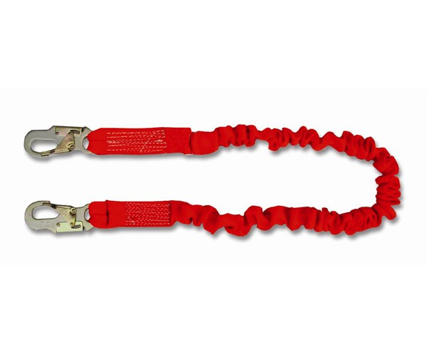 4 1/2' to 6' Single Leg Stretch Lanyard with Snap Hooks