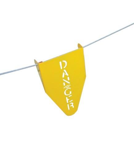 Stamped Steel Warning Flag