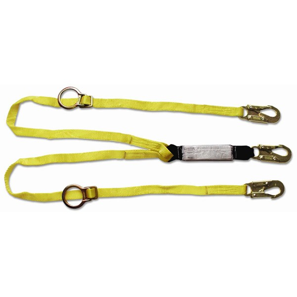 Tie-back Lanyard - Double Leg w/ Shock Pack