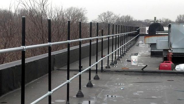 Refurbishing An Existing Roof Railing Fall Protection Blog