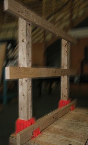 Angel Guardrail Boot - Temporary 2x4 Guardrail Boot