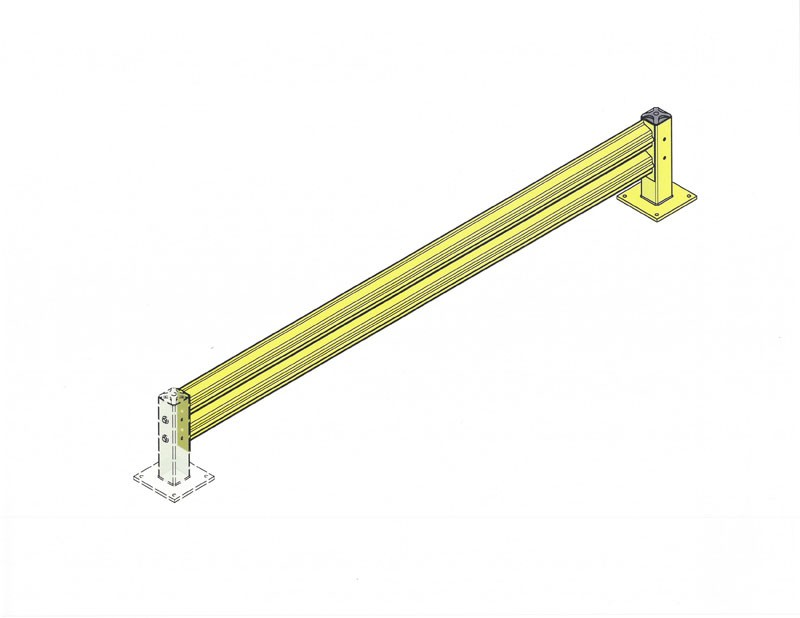 Single Rail Impact Barrier - Extension - 10 ft.