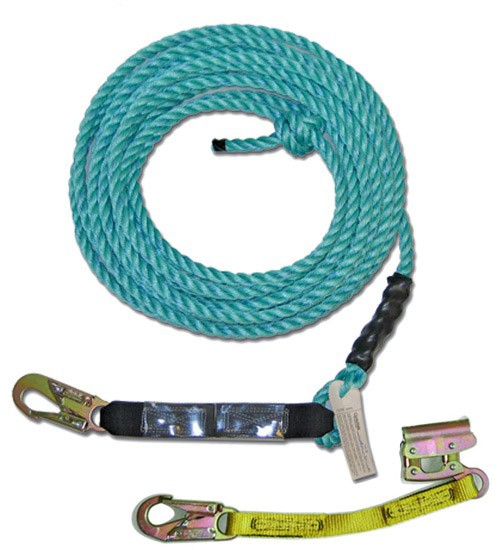 Vertical Lifeline Assembly w/ Blue Poly Steel Rope