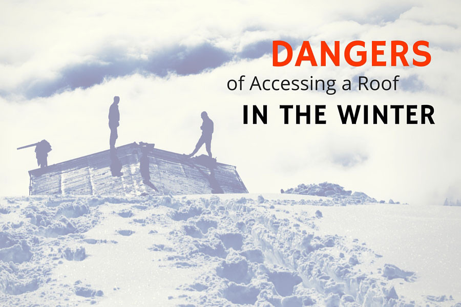 Dangers Of Accessing A Roof In The Winter Fall