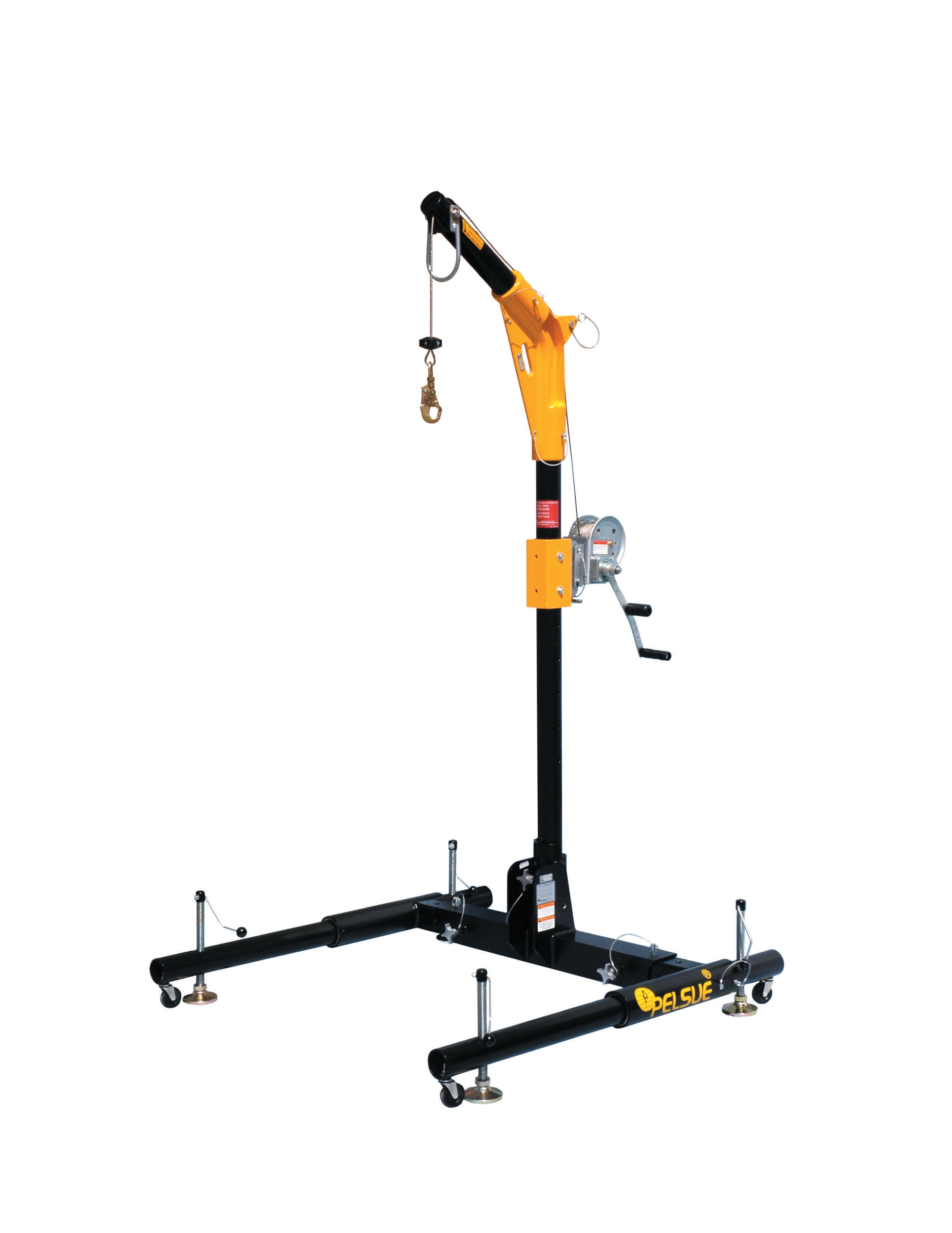 "18""/24"" Offset Davit Arm Retrieval System w/  36"" - 56"" Adjustable Base"