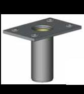 Plated Steel Flush Floor Mounted Permanent Davit Mount Sleeve