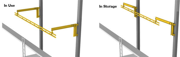 Fold Away Fixed Track Lifeline Fall Arrest System From