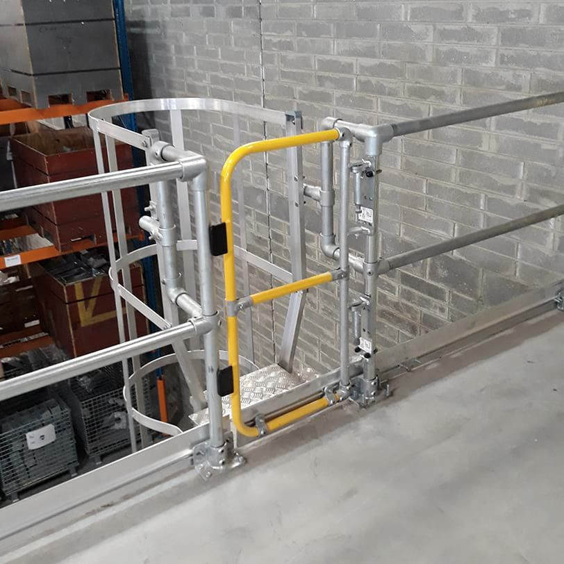 Full-Height Ladder Gate