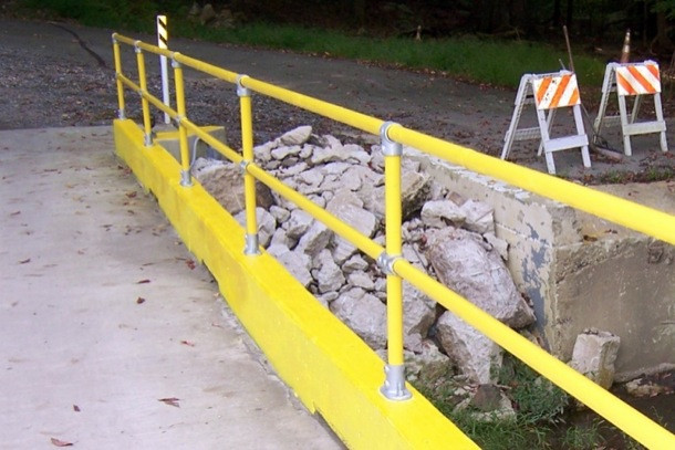 Loading Dock And Warehouse Safety Railing Fall