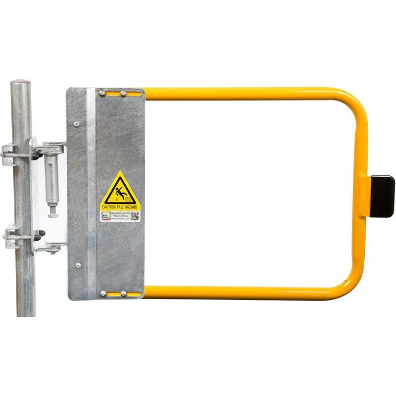 Yellow Poweder-Coated self-closing gate
