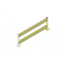 Double Rail Impact Barrier - Extension - 10 ft.
