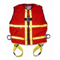 Hi-Vis Construction Tux Vest Harness