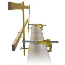 Parapet Clamp Guardrail System - Temporary Construction Site Guardrail