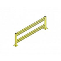 Double Rail Impact Barrier – Straight - 10 ft.
