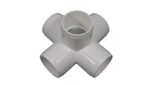 Pvc way cross snap fitting simplified building