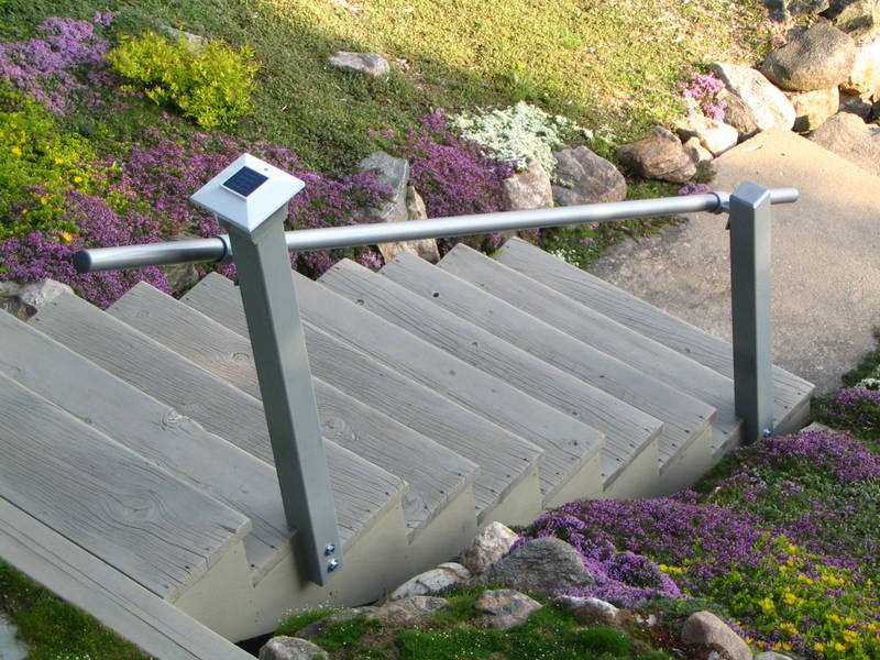 4 Step Handrail Kits : Wall mounted railing simplified building kee