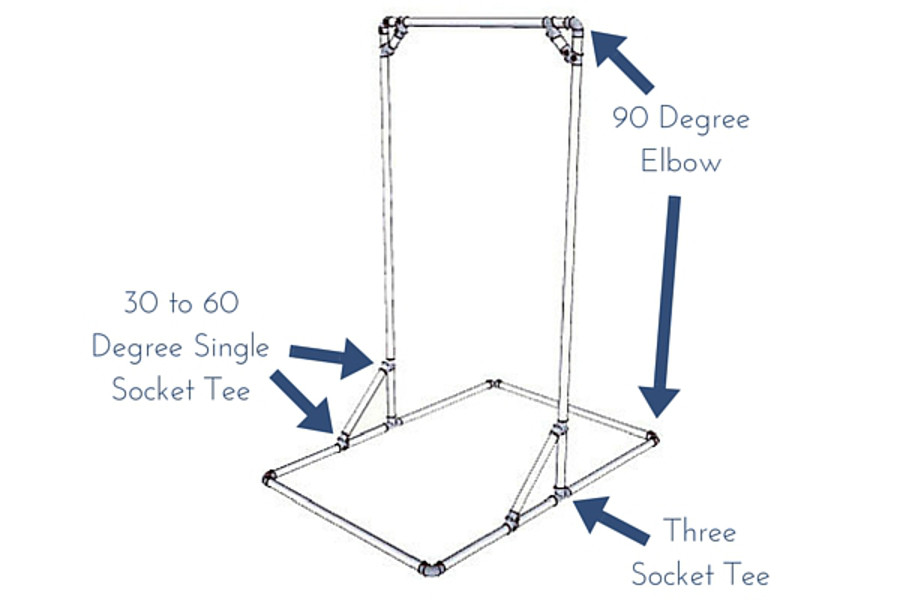 Free standing pull up bar simplified building for Homemade pull up bar plans