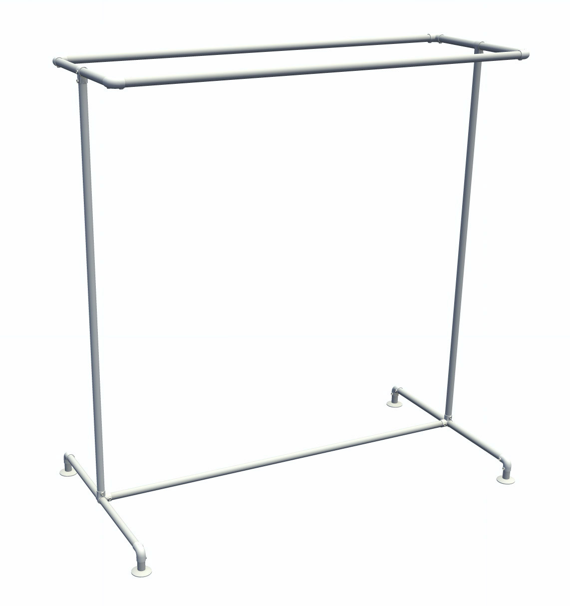 Pipe Clothing Rack Free Standing Double Rail Kee