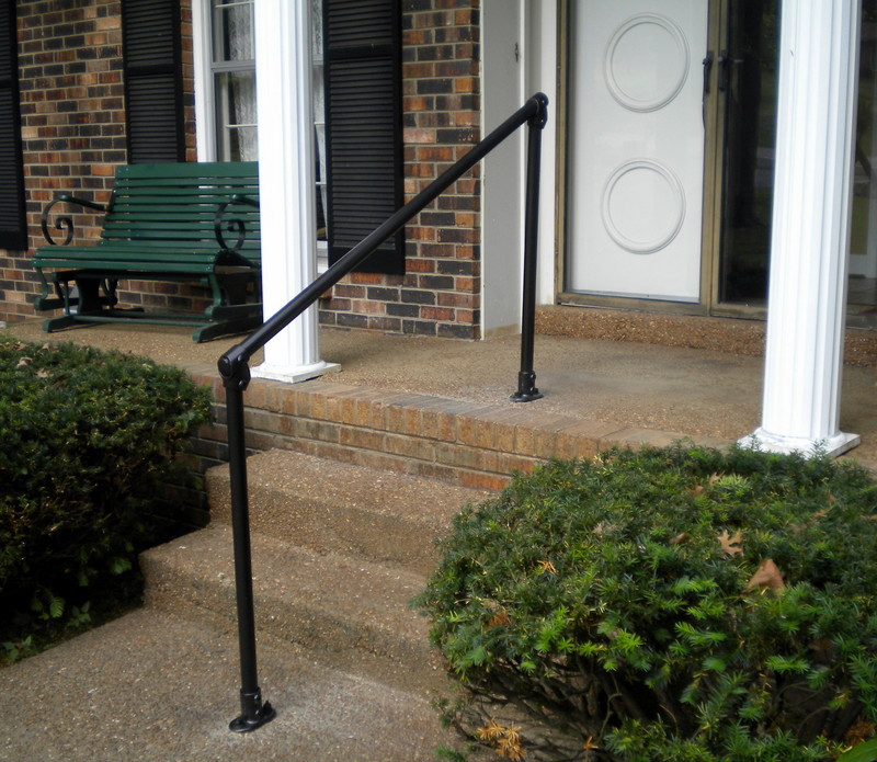Safety Handrails For Outdoor Steps: Outdoor Stair Railing, Easy Install Handrail