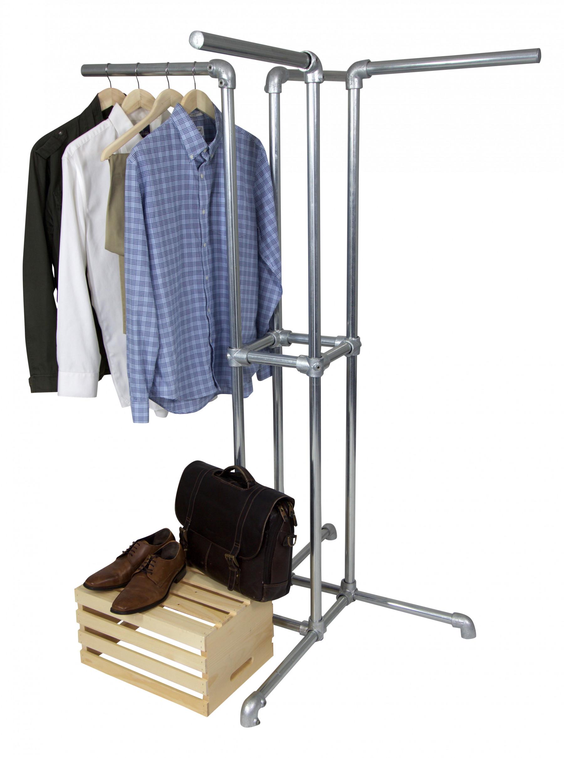 4 Way Pipe Clothing Rack Simplified Building
