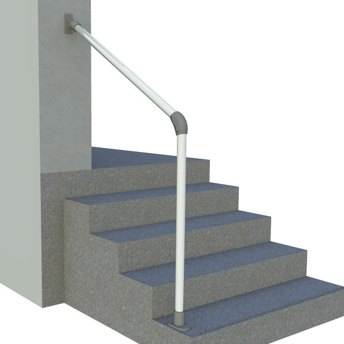 4 Step Handrail Kits : Hybrid c outdoor stair railing easy install