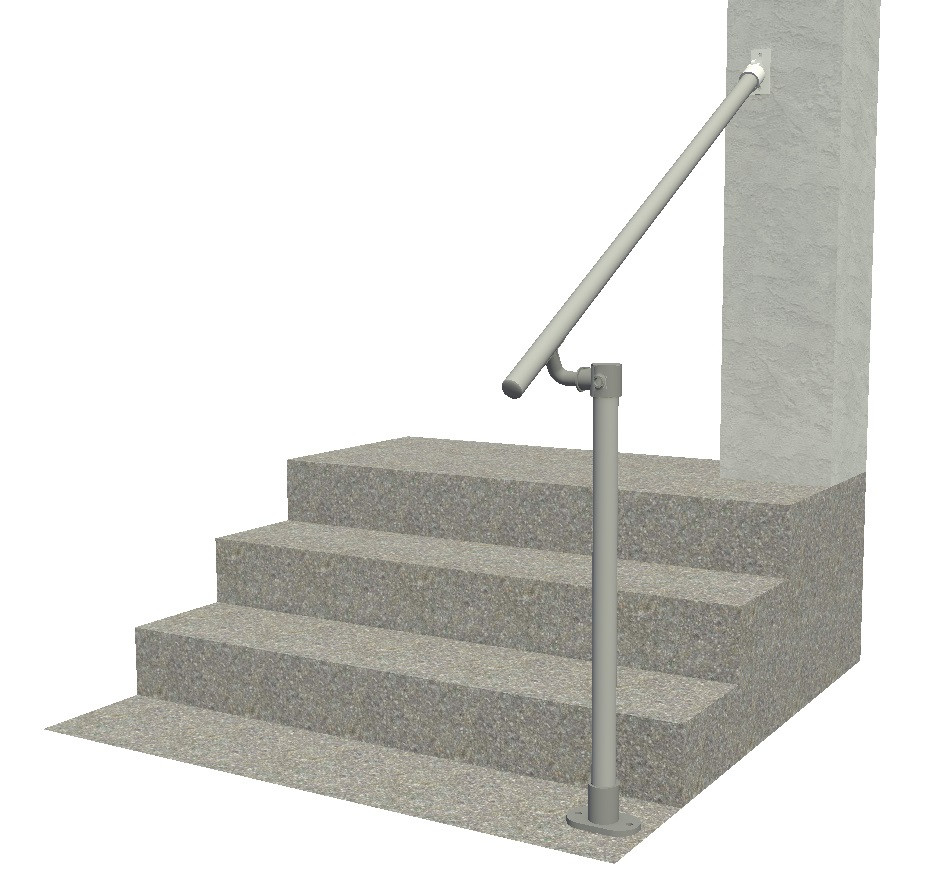 Hybrid 518 C58 Outdoor Stair Railing Easy Install