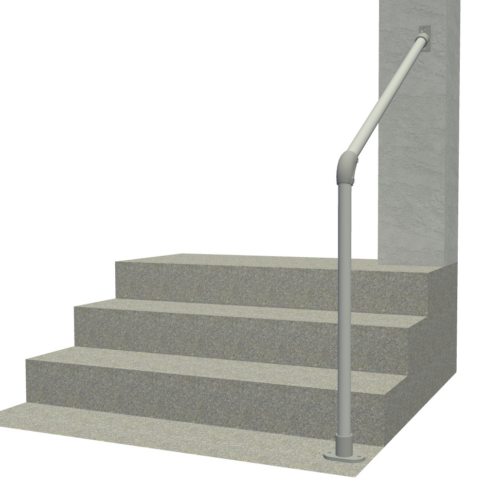 Step Handrail: Outdoor Stair Railing, Easy Install