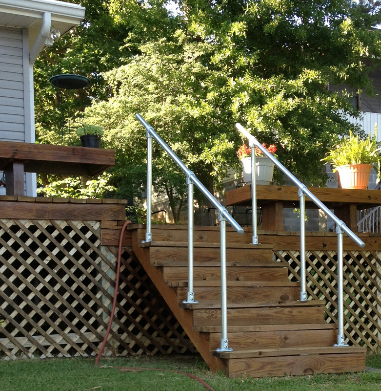 Outdoor Handrail Kits : Surface outdoor stair railing easy install handrail