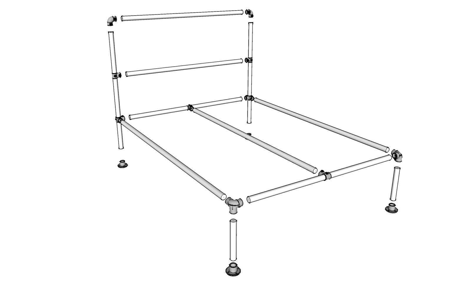 Manhattan Bed Frame - Pipe Bed Frames - Kits | Simplified Building