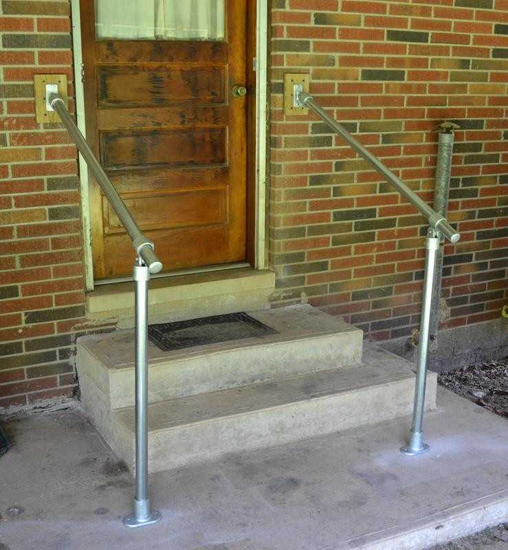 Hybrid C50 C58 Outdoor Stair Railing Easy Install